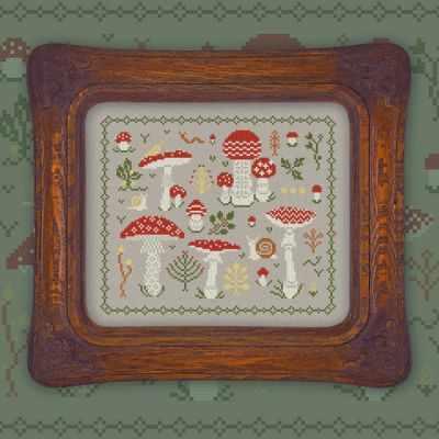 Схема для вышивания OwlForest 0020-М-С Мухоморчики - схема для вышивания (OwlForest)