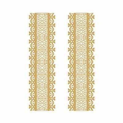 Трансфер для декупажа - Трансфер декоративный (V-034) золотой ''Золотое кружево''