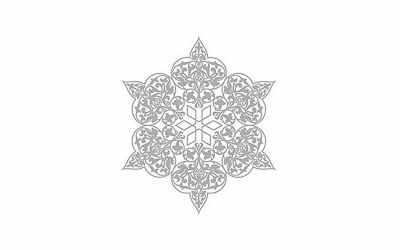 Трансфер для декупажа - Трансфер декоративный (VS-029) серебро ''Ажурная салфетка''