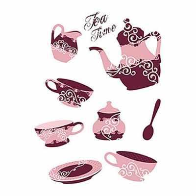 Трансфер декоративный (RR-025) Время чая