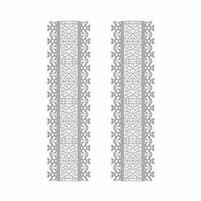 Трансфер для декупажа - Трансфер декоративный (V-034) серебро ''Серебряное кружево''