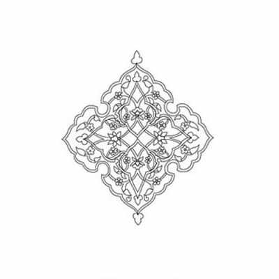 Трансфер для декупажа - Трансфер контурный (KNT-024) для стекла и керамики (запекаемый)