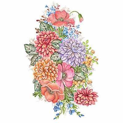 Трансфер для декупажа - Трансфер универсальный 25х35см (T-202) Букетики трансфер универсальный мелкие цветочки 25 см х 35 см sm 094
