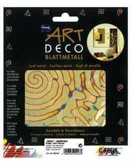 Декоративные элементы и украшения для скрапбукинга - KR-99443 Поталь Home Design ART DECO/ 6 листов 140х140/ Ретро, золото
