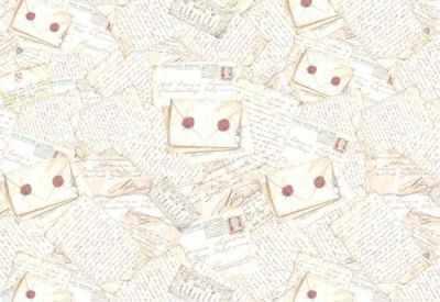 DFS057  Бумага рисовая для декупажа Stamperia, Письма 48х33 см, 28 гр