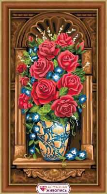 Фото - Алмазная мозаика Алмазная живопись Алмазная вышивка Античный букет (АЖ-1603) - картина стразами алмазная мозаика алмазная живопись алмазная вышивка черная пантера аж 1522 картина стразами