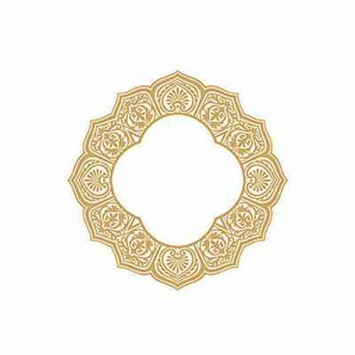 Трансфер для декупажа - Трансфер декоративный (V-064) золотой ''Турецкая салфетка''