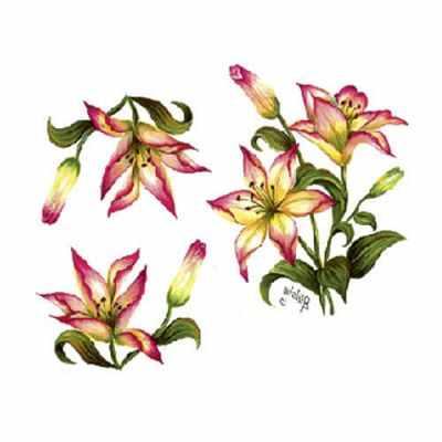 Трансфер для декупажа - Трансфер универсальный Желтые лилии (G-62) трансфер универсальный мелкие цветочки 25 см х 35 см sm 094