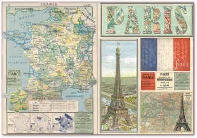 """DFS290 Бумага рисовая для декупажа """"Карта Франции"""""""