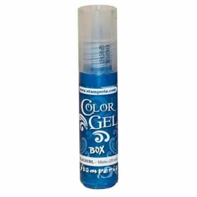 Краски Stamperia KAG01BL Краска Color Gel 20 мл, Stamperia,на водной основе, 20 мл темно-голубой . pebeo краска масляная набор xl 18 цветов 668110 12 мл
