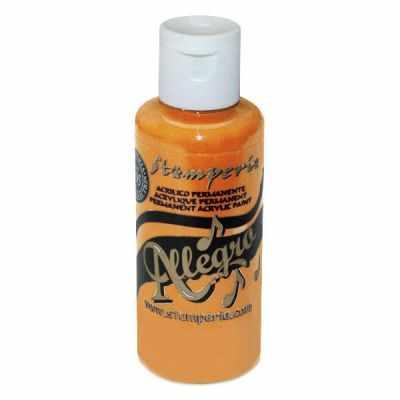 KAL08 Акриловая краска Allegro,  59 мл, 3,4хh10 см оранжевый