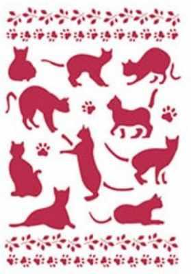 Материалы и инструменты для скрапбукинга STAMPERIA KSG159 Трафареты Stamperia, кошки, 1 шт, 21 х 29,7 см.