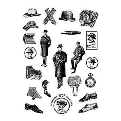 Трансфер для декупажа - Трансфер декоративный (R-312) черный ''Джентльменский набор''