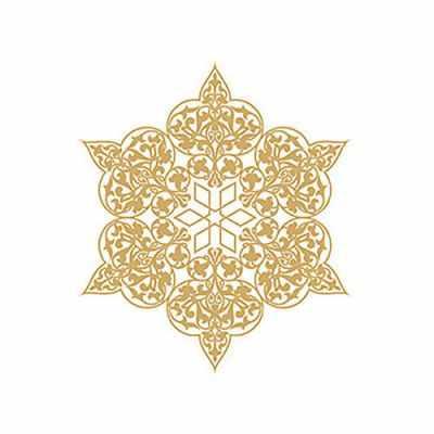 Трансфер для декупажа - Трансфер декоративный (V-029) золотой ''Ажурная салфетка''
