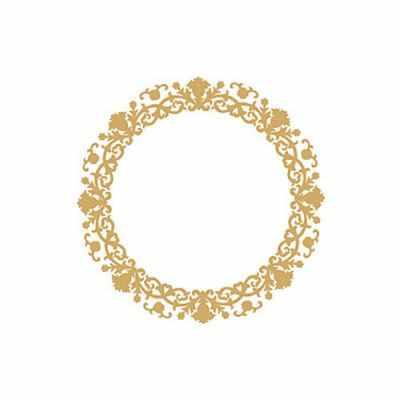 Трансфер для декупажа - Трансфер декоративный (VG-028) золото