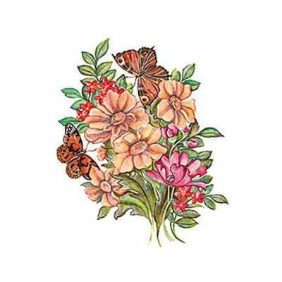 Трансфер для декупажа - Трансфер универсальный (T-205) Полевой букет трансфер универсальный мелкие цветочки 25 см х 35 см sm 094