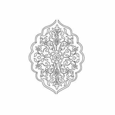 Трансфер для декупажа - Трансфер контурный (KNT-038) для стекла и керамики (запекаемый)