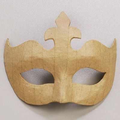 Заготовка для творчества - 2632261 Заготовка из папье-маше маска, картон, 14 x 17 cм, натуральный.