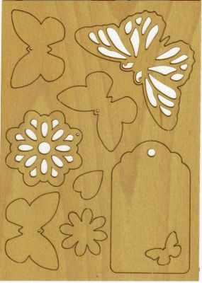 Декоративные элементы и украшения для скрапбукинга - 468.000.007 Аппликации формата А6, картон .