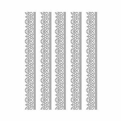 Трансфер для декупажа - Трансфер декоративный (V-032) серебро ''Серебряное кружево''