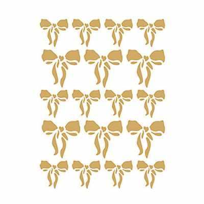 Трансфер для декупажа - Трансфер декоративный (V-092) золотой ''Бантики''