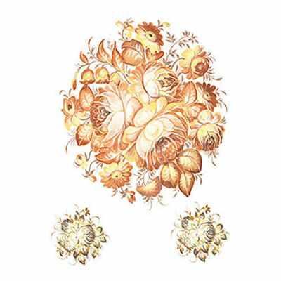Трансфер для декупажа - Трансфер универсальный Букет в оранжевых тонах (T-227) трансфер универсальный мелкие цветочки 25 см х 35 см sm 094