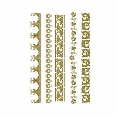 Трансфер для декупажа - Трансфер универсальный золотой Бордюрная коллекция (CD-304) трансфер универсальный мелкие цветочки 25 см х 35 см sm 094