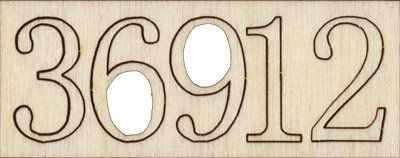 """Заготовки для декорирования Mr. Carving УС-019 """"цифры"""""""