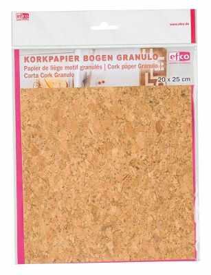 Бумага для декупажа EFCO 3370002 Корковая (пробковая) бумага 20 x 25 см