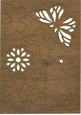 Декоративные элементы и украшения для скрапбукинга - 468.100.007 Аппликации формата А6, картон .