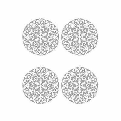 Трансфер для декупажа - Трансфер декоративный (V-017) серебро ''Ажурная салфетка''