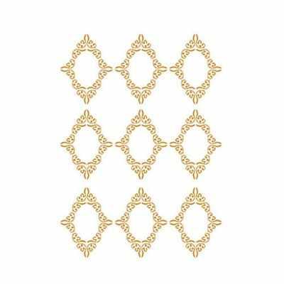 Трансфер для декупажа - Трансфер декоративный (V-091) золотой ''Рамочки''
