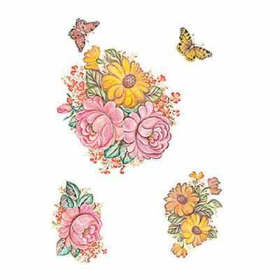 Трансфер для декупажа - Трансфер универсальный Астры и маки (T-203) трансфер универсальный мелкие цветочки 25 см х 35 см sm 094