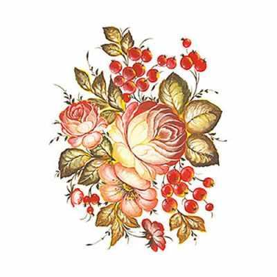 Трансфер для декупажа - Трансфер универсальный Осенний букет (T-222) трансфер универсальный мелкие цветочки 25 см х 35 см sm 094
