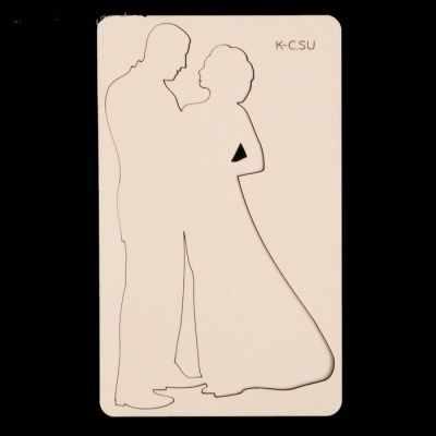 """3402703 Чипборд картон """"Жених и невеста большие"""""""