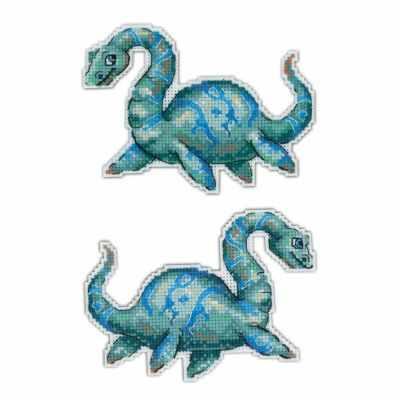 Фото - Набор для вышивания МП Студия Р-301 Динозавры. Плезиозавр набор для вышивания мп студия р 346 бабушка яга