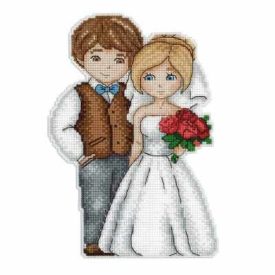 Фото - Набор для вышивания МП Студия Р-276 Жених и невеста набор для вышивания мп студия р 346 бабушка яга