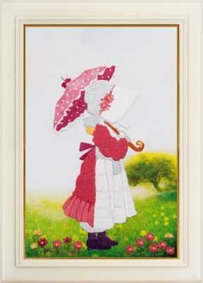 Набор для вышивания Картины бисером R-012 Прогулка - набор для вышивания