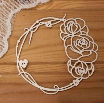 арт.Р-305 Рамка с иголкой, нитками и розами
