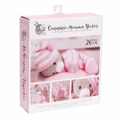 2724094 Наборы для вязания амигуруми: Мягкая игрушка «Сонный мишка Уолт»