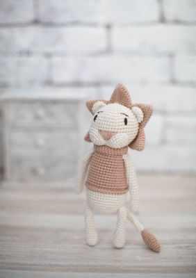 Набор для изготовления игрушки Арт Узор 2724102 Наборы для вязания амигуруми : Мягкая игрушка «Львёнок Чарли»