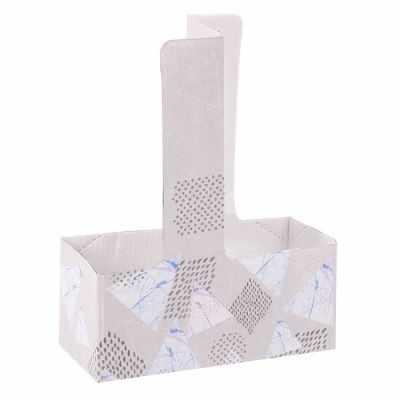 Упаковка для выпечки Дарите Счастье 3090023 Переноска для кофе «Геометрия»