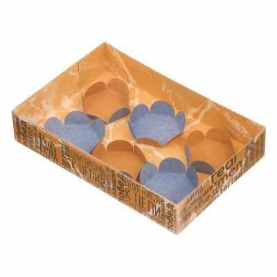 Упаковка для выпечки Дарите Счастье 3132122 Коробка макарун с подложками For real men