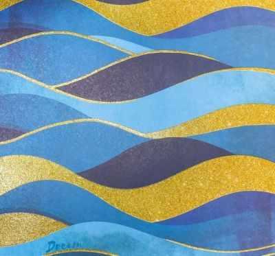 3330283 Бумага для скрапбукинга с блёстками «Волны»
