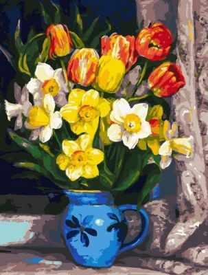 Набор для рисования по номерам Белоснежка 229-AS Тюльпаны - раскраска (Белоснежка)