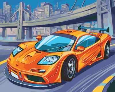 Набор для рисования по номерам Белоснежка 235-AS McLaren F1 GTR - раскраска (Белоснежка)