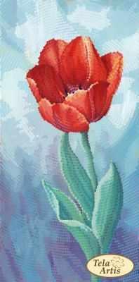 Основа для вышивания с нанесённым рисунком Tela Artis ТМ-115 - Садовые зарисовки. Тюльпан - схема для вышивания (Tela Artis)