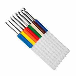 648-2 Набор крючков для вязания с пластиковой ручкой