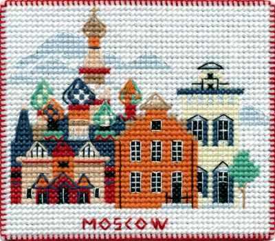 Набор для вышивания Овен 1064 Столицы мира. Москва