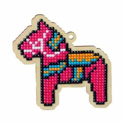 Мозаичная картина Гранни Алмазная вышивка W0147 - Игрушечная лошадка подвеска